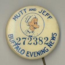 Mutt and Jeff Comic Strip Pinbacks